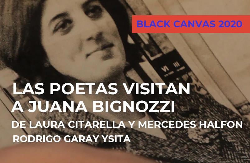 Black Canvas 2020: Las poetas visitan a Juana Bignozzi de Laura Citarella y Mercedes Halfon
